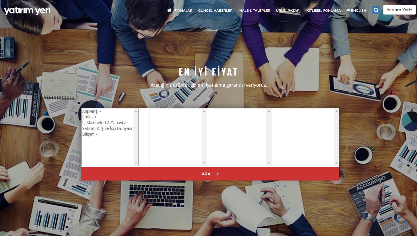 E-ticaret portalı olan yatirimyeri.com 'un  hizmet