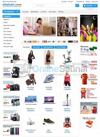 Her Tarz ürün Satışı için E-ticaret Sitesi Paketi Ekonomik Paket