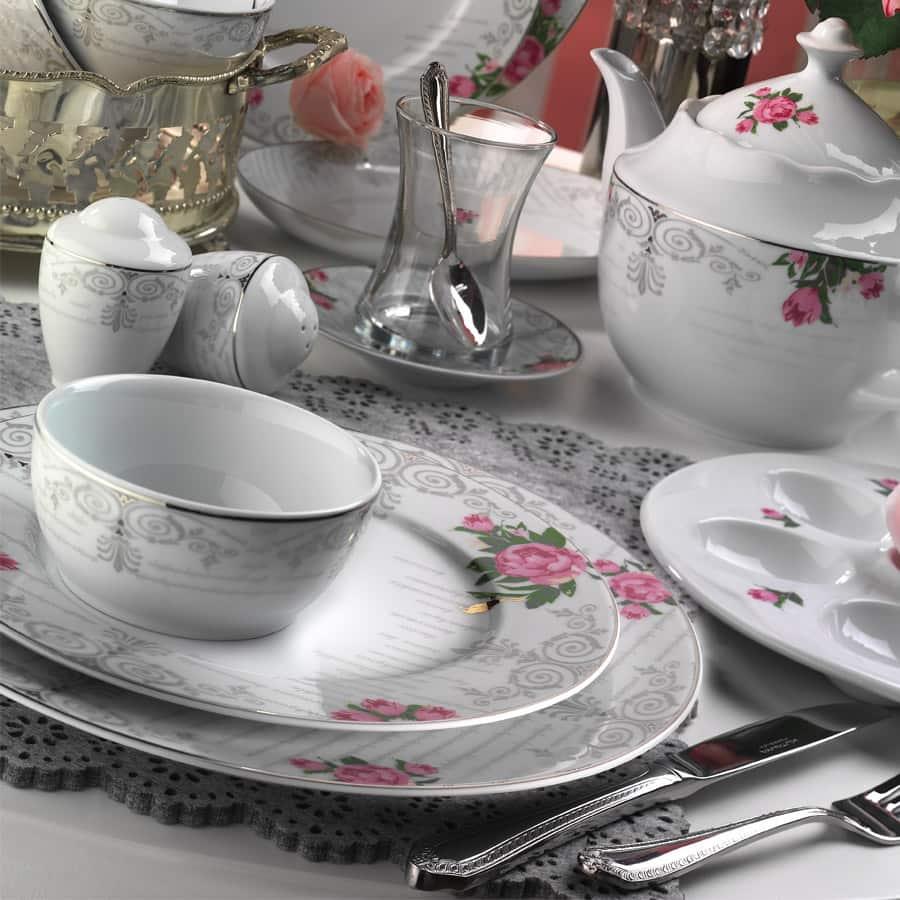 Kütahya Porselen Leonberg 43 Parça Desen Kahvaltı Takımı