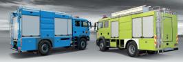 Portable Ladder Fire Truck