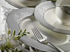 Kütahya Porselen Bone Kalipso 62 Parça 9203 Desenli Yemek Takımı