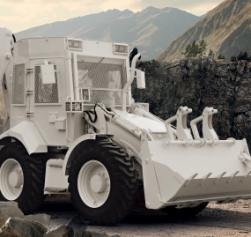 Zırhlı Kazıcı Yükleyici İş Makinesi